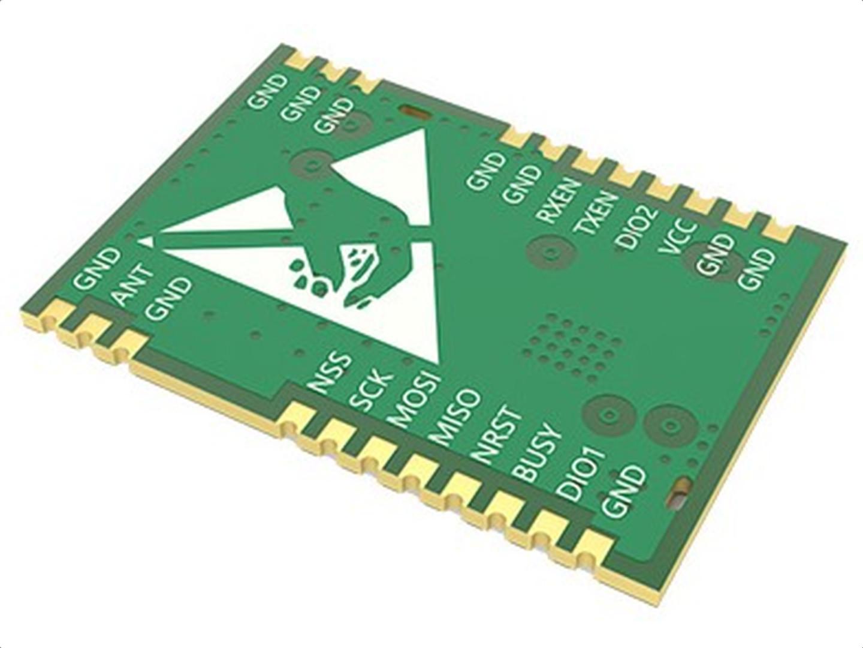 LoRa SX1262 Module, 22dBm, 850-930MHz, SPI, U FL